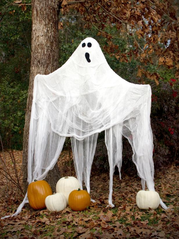 Life-Size Outdoor Ghost Decoration