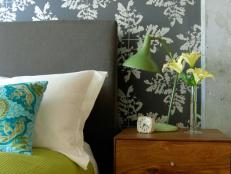 Block-Printed Fern Wallpaper