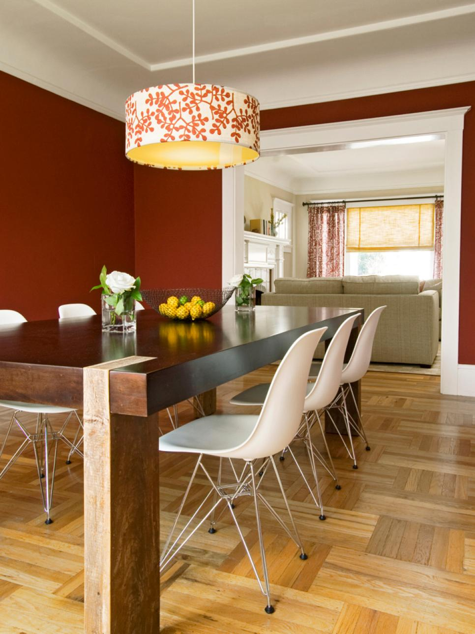 Dining Room Colors Brown decorating with warm, rich colors | hgtv