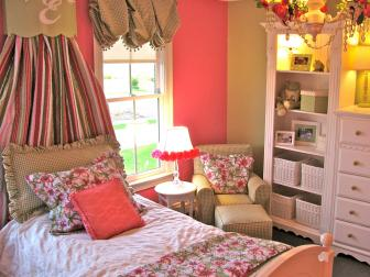 Pink Cottage Style Girl's Bedroom