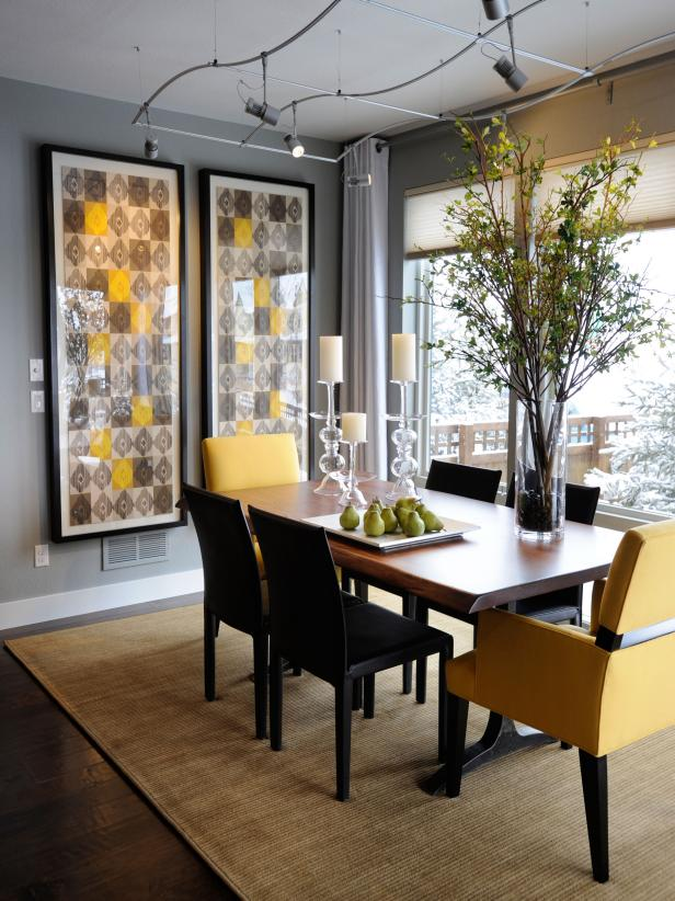 Photo page hgtv for Artwork for dining room wall