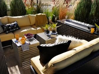 Charming Contemporary Patio With Cozy Sofas