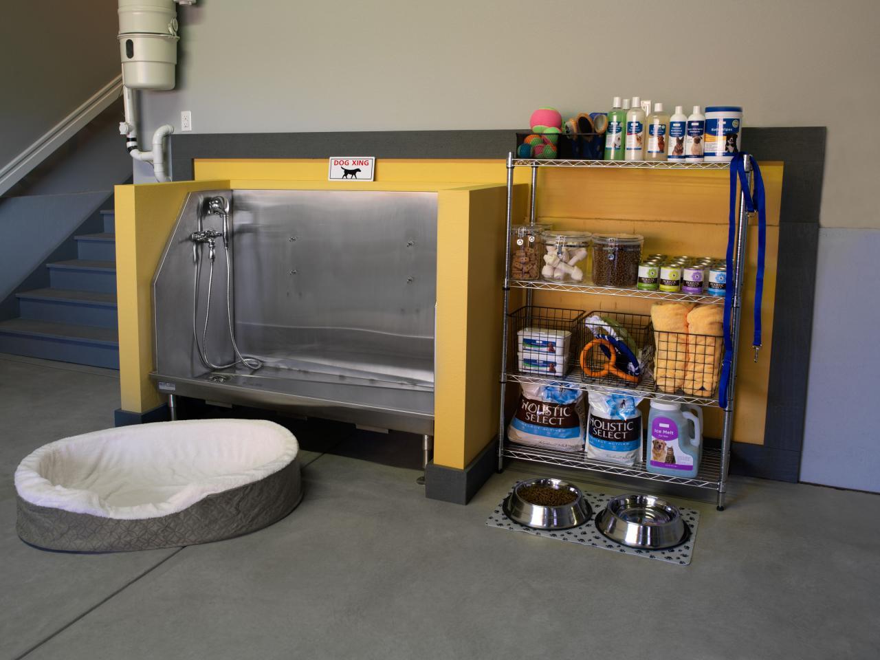 Hgtv green home 2011 garage interior pictures hgtv for Diy dog bathing system