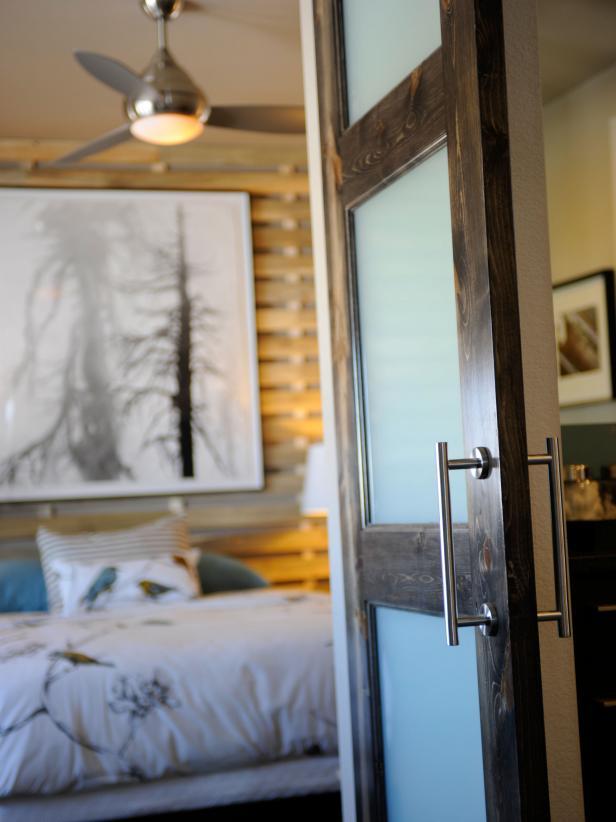 Green Home 2011 Master Suite Barn Door and Bed