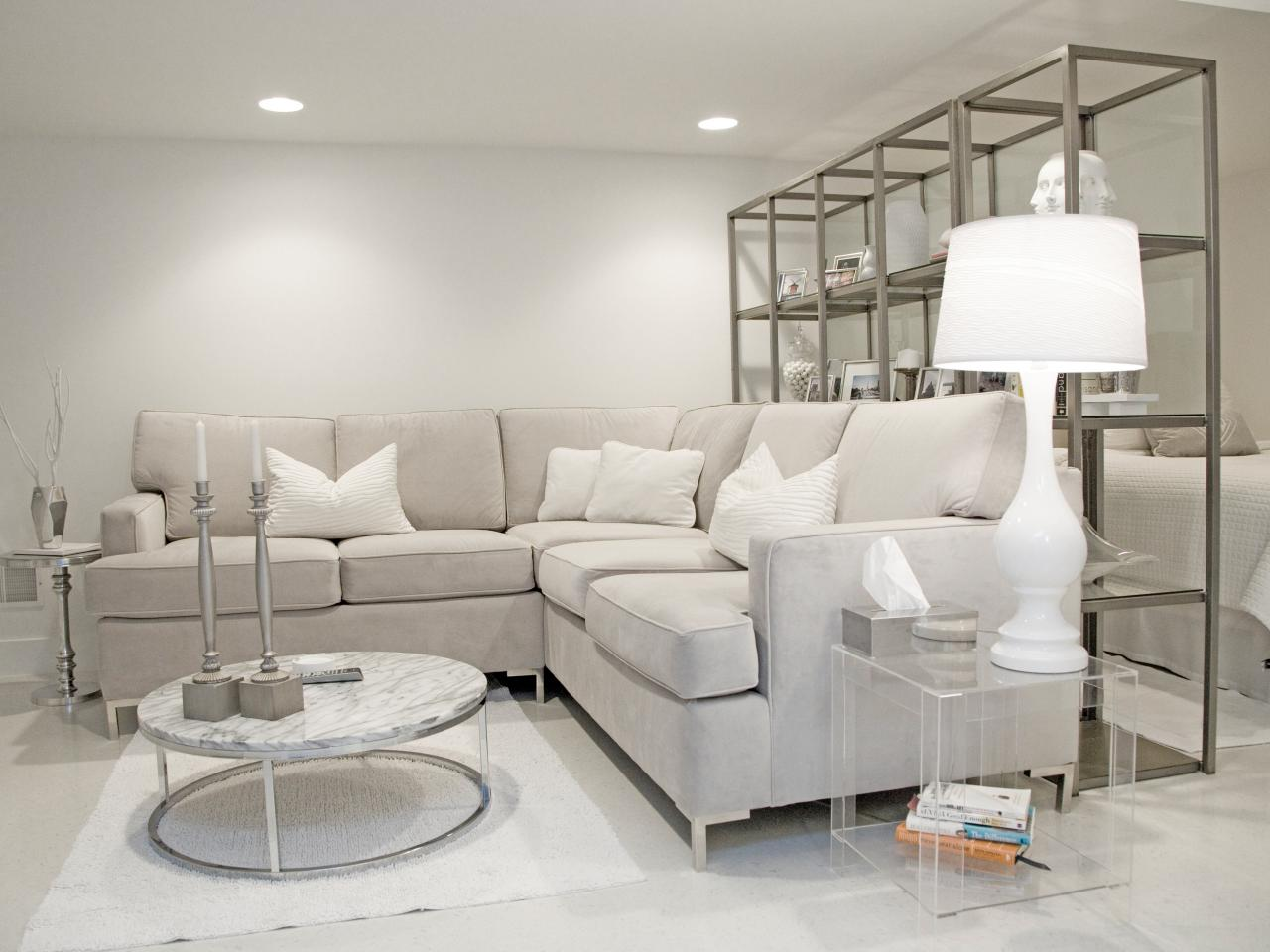 Photo page hgtv - Gray modern living room furniture ...