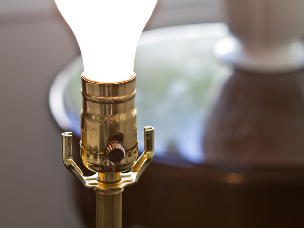 Test Light Bulb in Rewired Lamp
