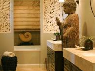 Zen Bathroom with Asian Flair