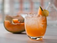 Non-Alcoholic Ginger and Cantaloupe Spritzer