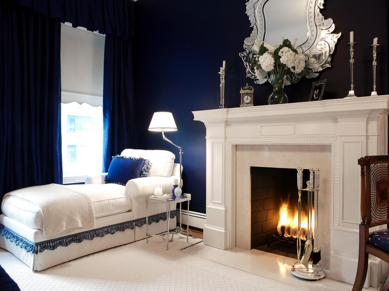 How to create a hotel style master bedroom bedrooms bedroom decorating ideas hgtv Master bedroom with fireplace images