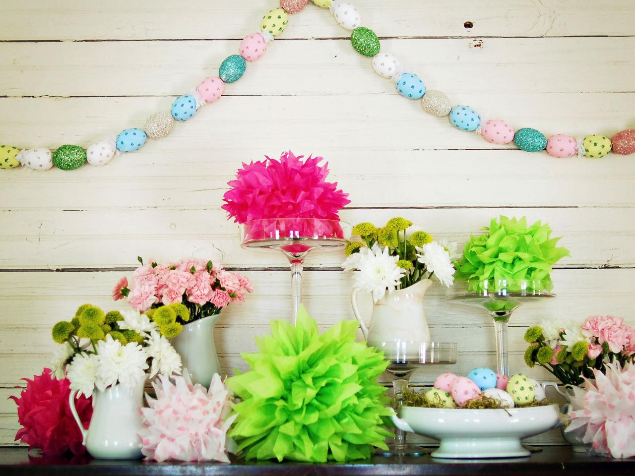 how to make a hand painted easter egg garland hgtv