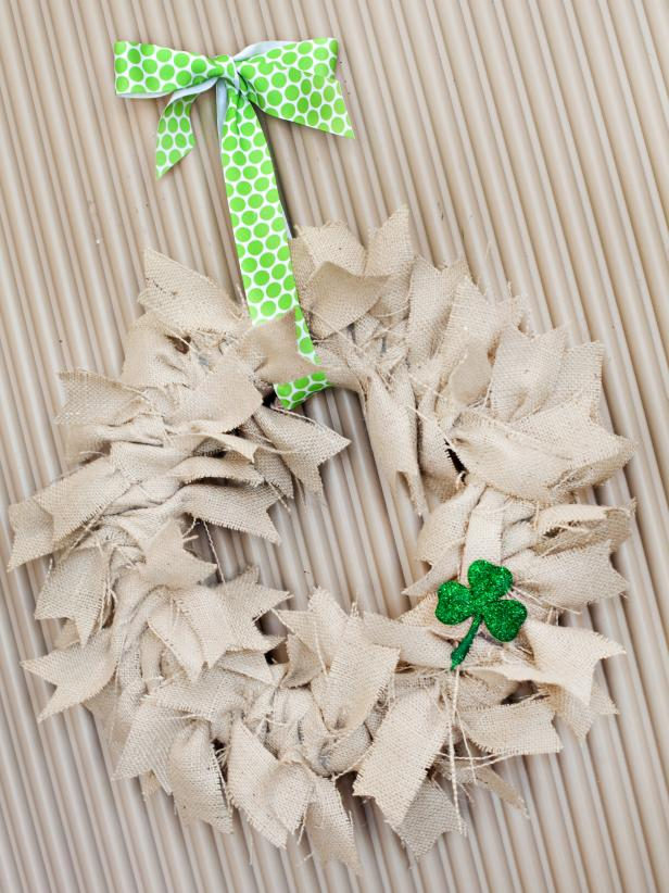 Wreath with Shamrock Adornment