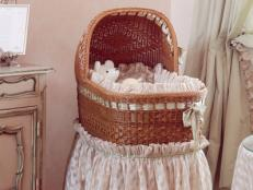 Elegant Bassinet in Baby Room