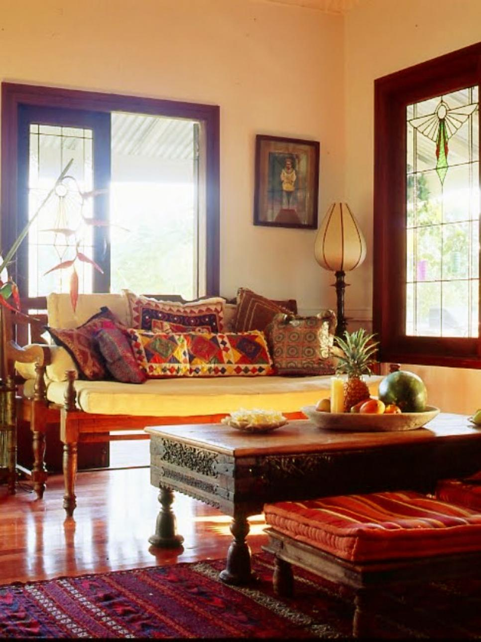 12 spaces inspired by india hgtv for Living room interior design photo gallery