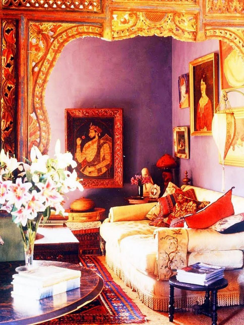 12 spaces inspired by india hgtv for Home decorations india