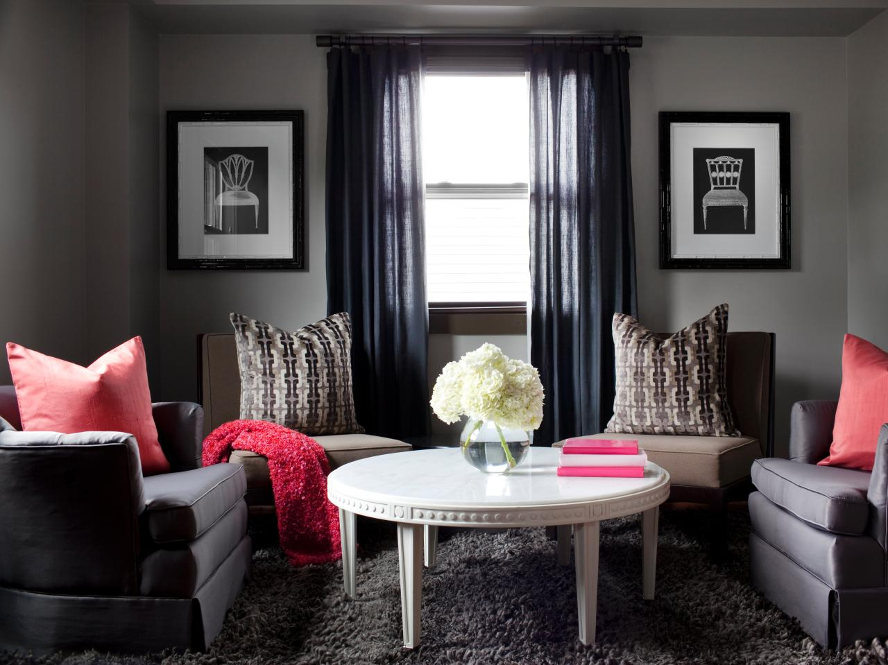 Our favorite color infused living rooms living room and for Gray living room ideas