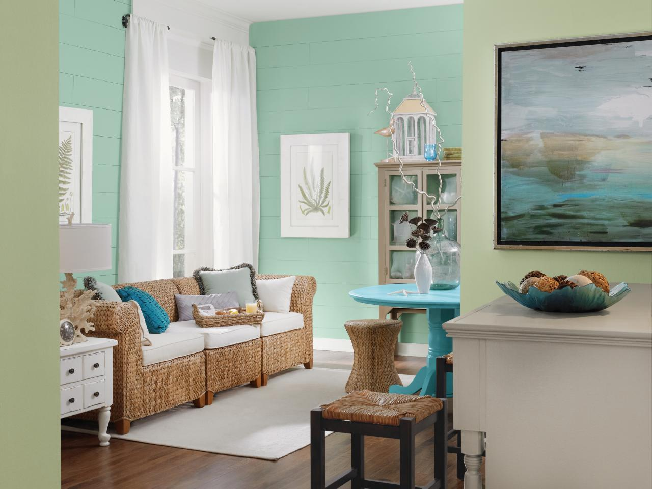 Coastal living room ideas living room and dining room for Beach decor ideas living room