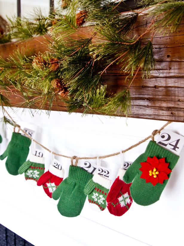 Homemade Mitten Advent Calendar