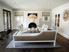 White Living Room is Clean, Airy