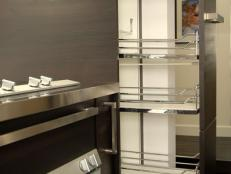 Modern Kitchen With Pull-Out Pantry Drawer