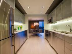 Sleek, Modern Galley Kitchen