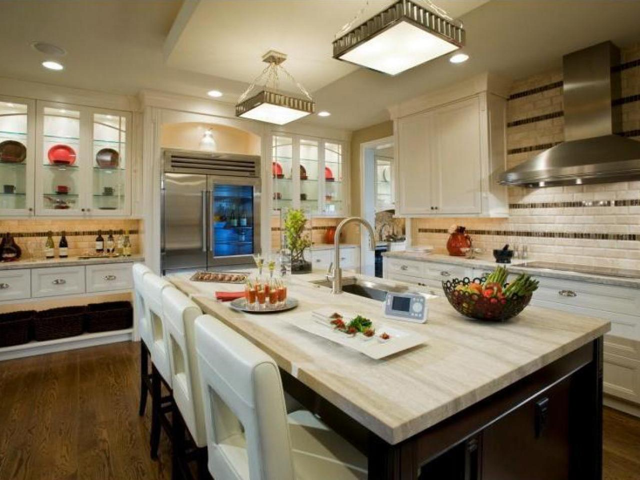 White Granite Kitchen Countertops: Pictures & Ideas From HGTV  HGTV