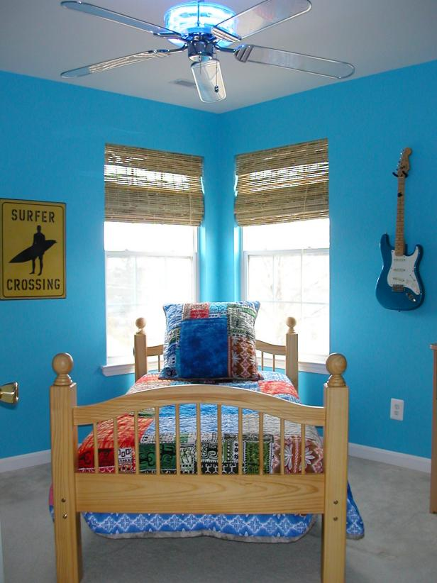 Blue Tropical Boy's Bedroom