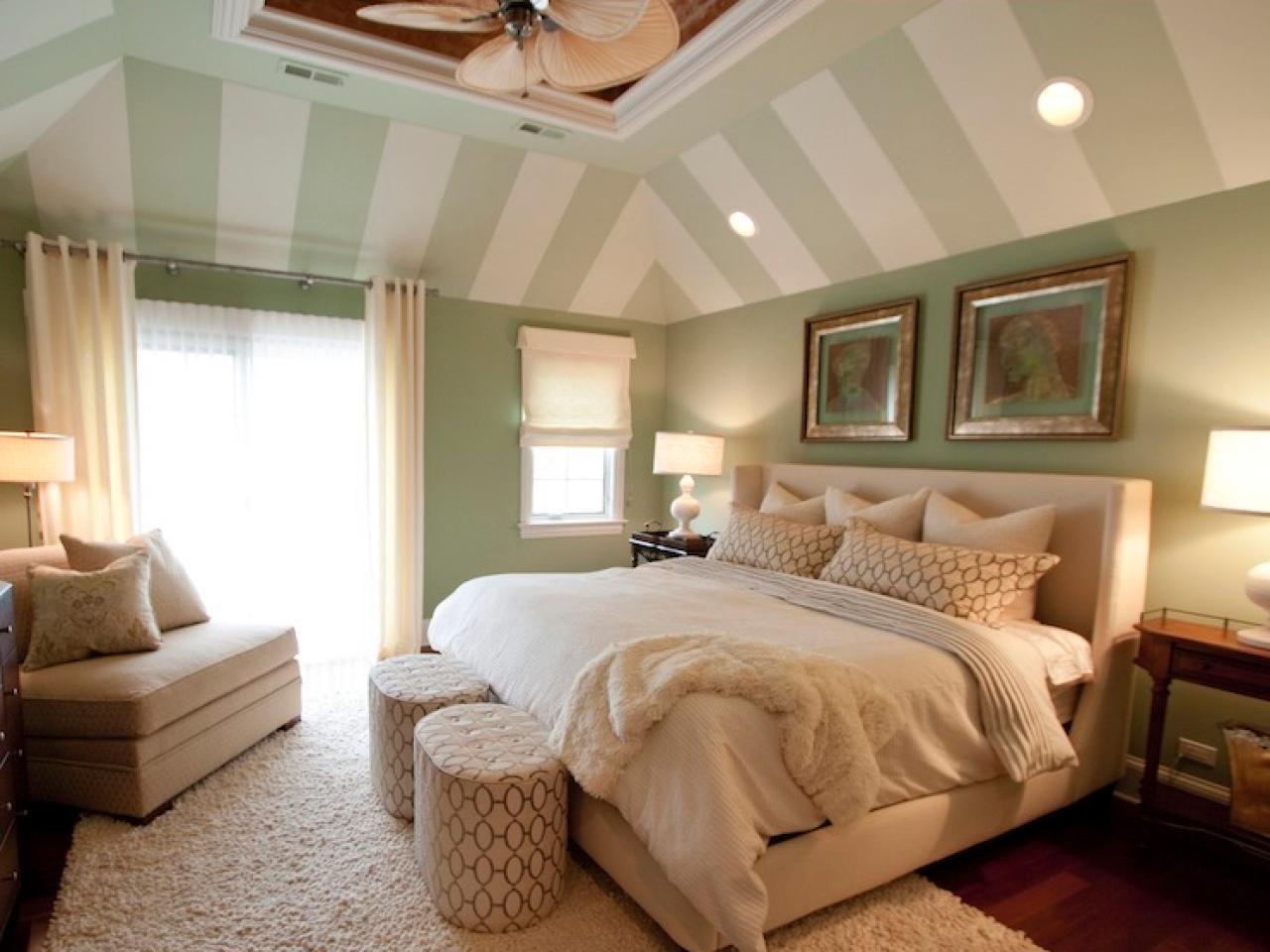 Coastal inspired bedrooms bedrooms bedroom decorating ideas hgtv Master bedroom with green walls