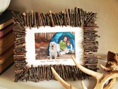 Rustic Frame Made of Twigs