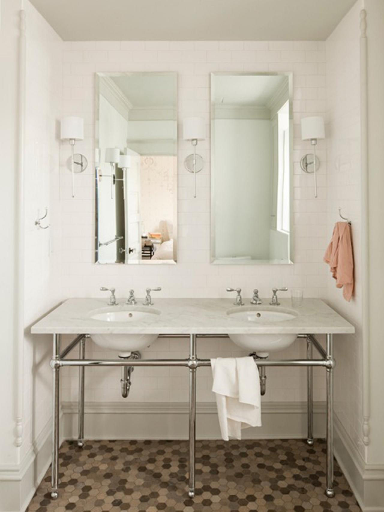 Photos hgtv Stainless steel bathroom vanities
