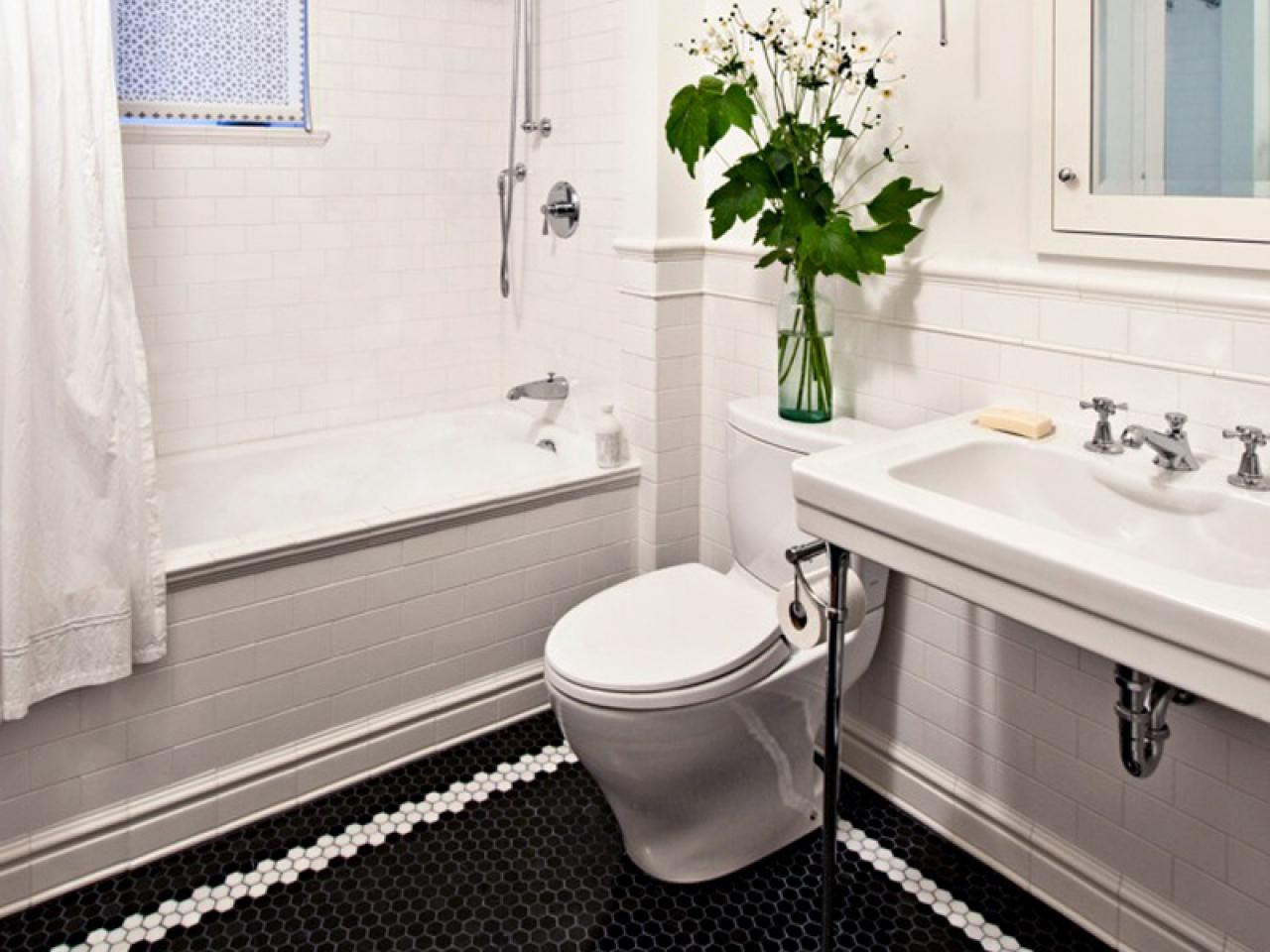 Bathroom Floor Tile Design Pictures : Black and white bathroom designs ideas