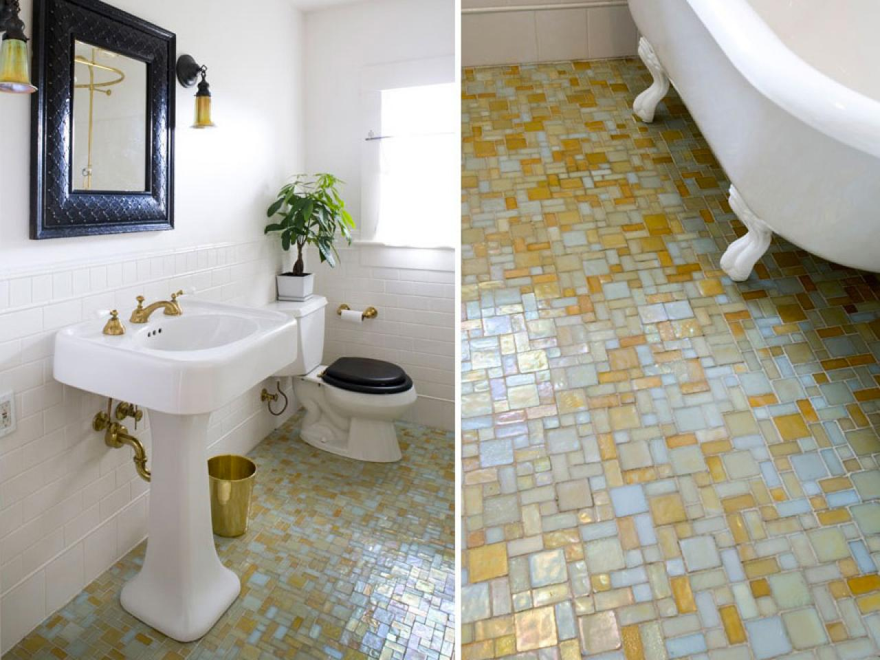 15 simply chic bathroom tile design ideas bathroom ideas designs hgtv Bathroom flooring tile