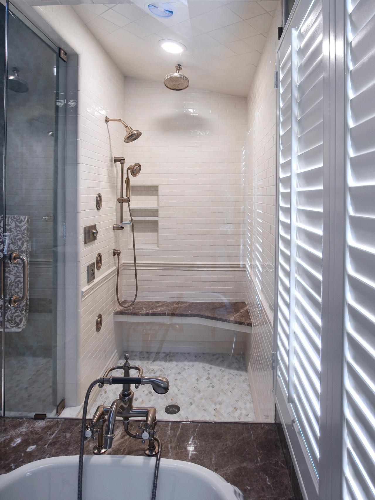 Dreamy tubs and showers bathroom ideas designs hgtv for Bathroom tub and shower designs