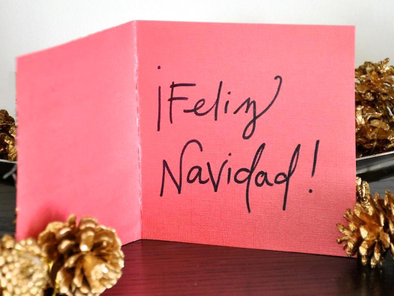 Feliz Navidad Handmade Holiday Card | HGTV