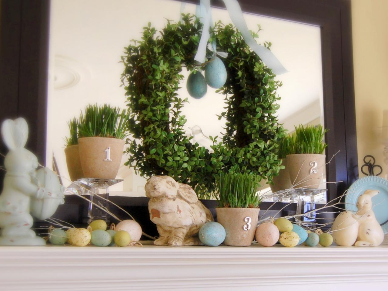 Decorate your mantel year round interior design styles Images for easter decorations