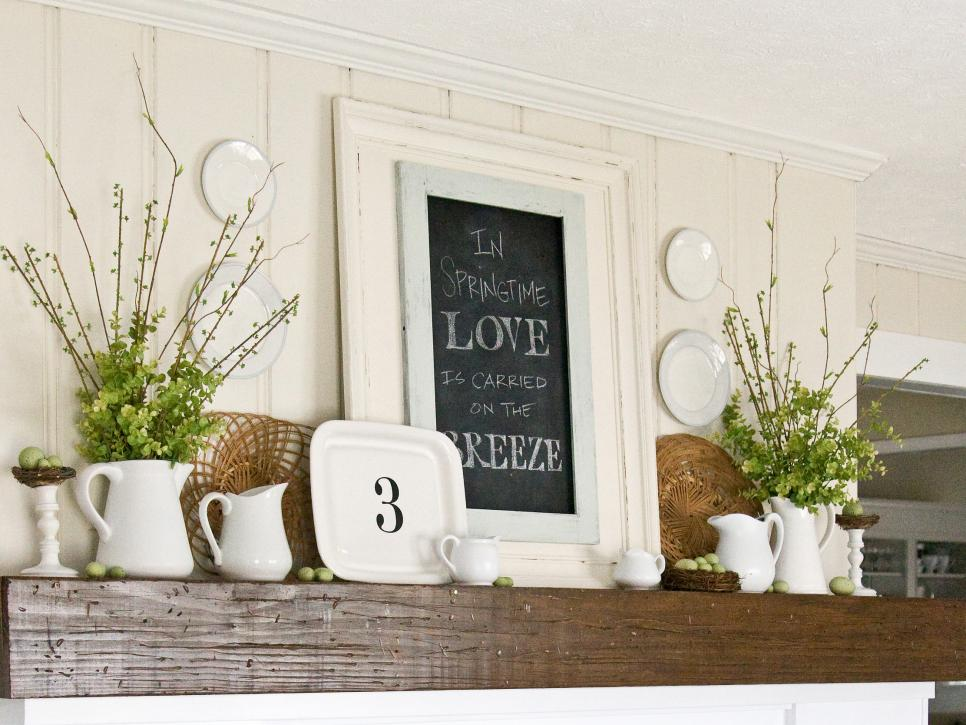 Decorating A Mantel decorate your mantel year round | hgtv