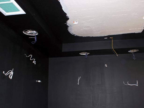Home Theater Drywall With Wiring