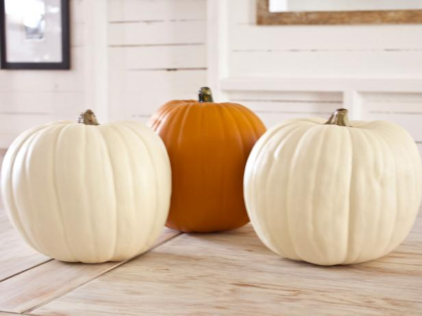 Gather Faux Pumpkins Step 1