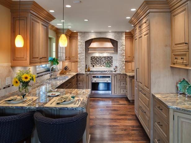 Traditional Kitchen with Additional Bar Seating