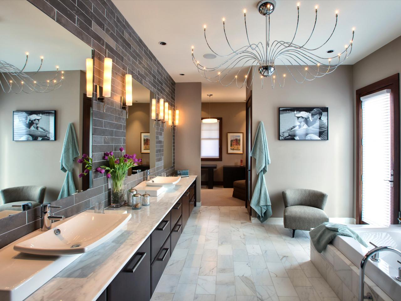 13 dreamy bathroom lighting ideas bathroom ideas for Contemporary bathroom lighting ideas