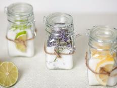 Infused Sugars With Lemon, Lime and Lavender