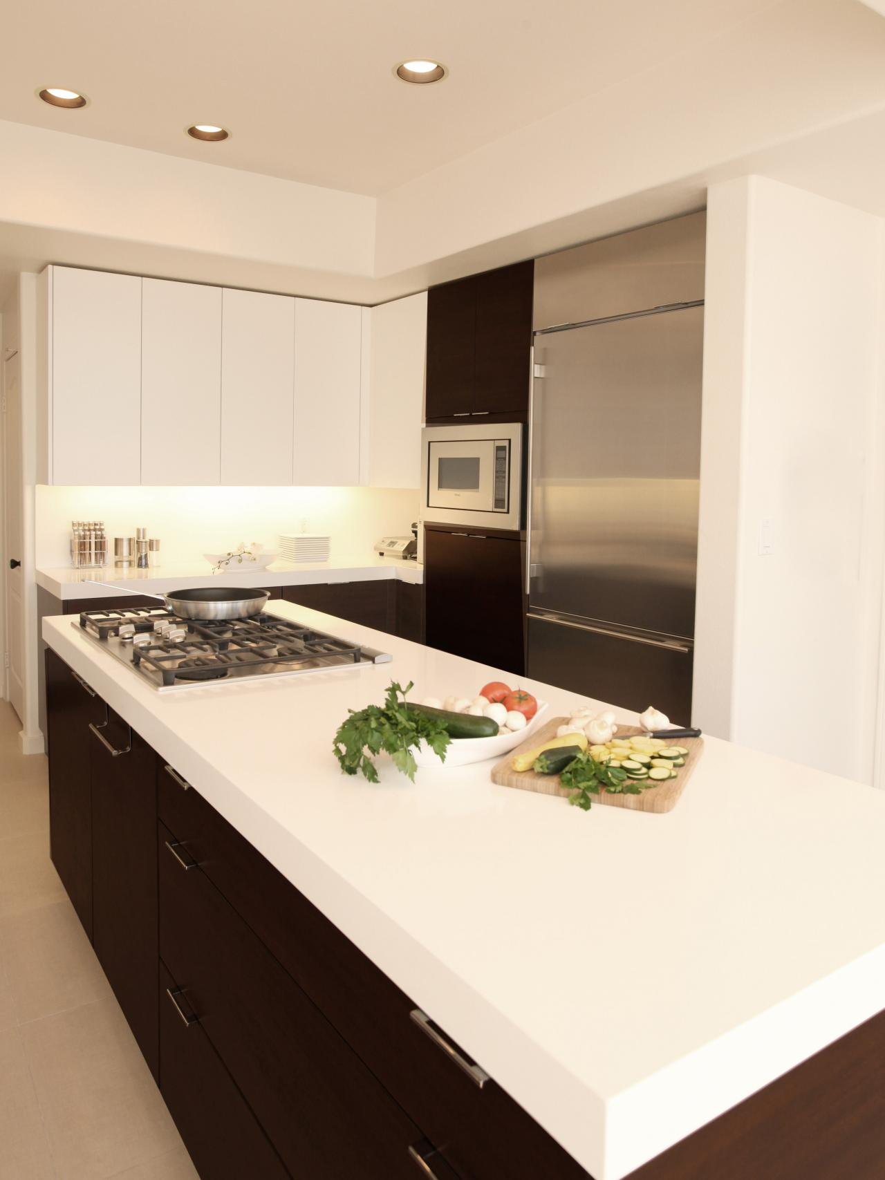 Modern Kitchen Counter cheap kitchen countertops pictures options ideas hgtv Solid Surface Kitchen Countertop Inspiration