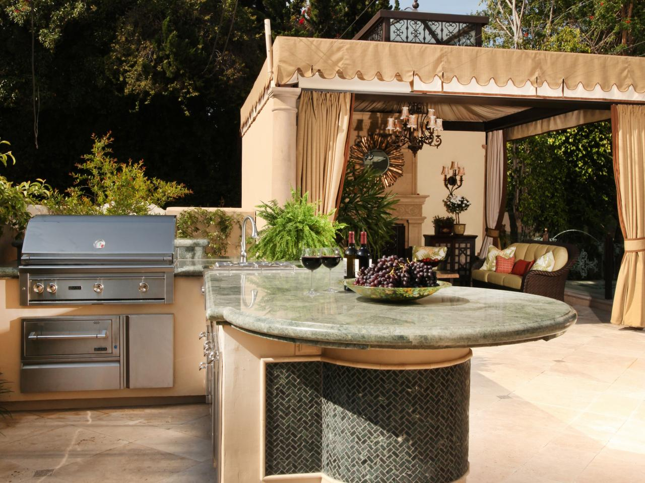 romantic dining - Outdoor Kitchen Ideas Designs