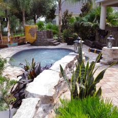 Pirate Theme Backyard Pool