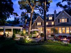 Backyard Outdoor Lighting for Traditional Home