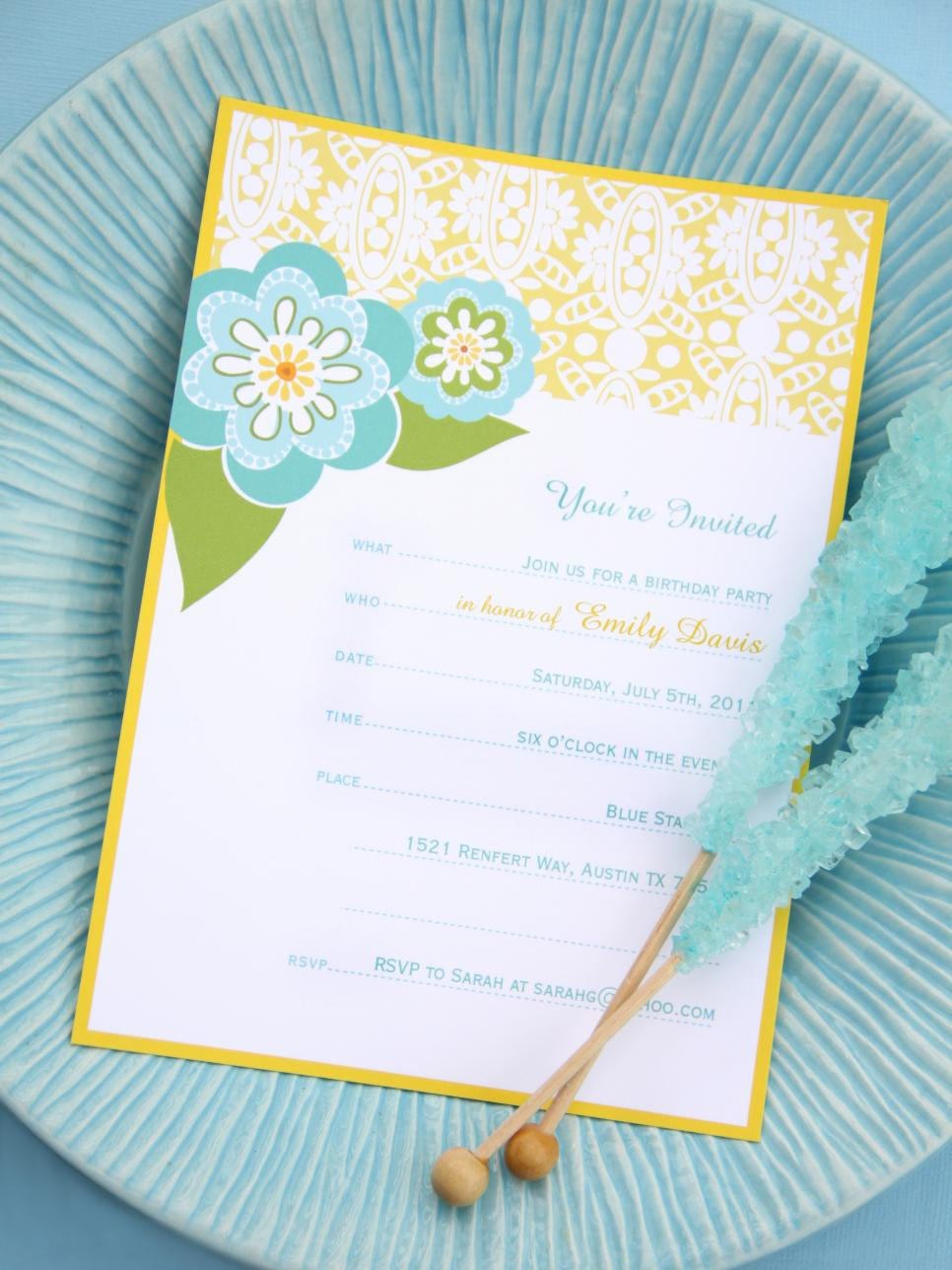 It is a photo of Punchy Printable Party Invites