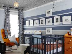 Nursery With Patterned Ceiling
