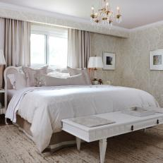 Elegant Khaki Bedroom With Cream Bedding