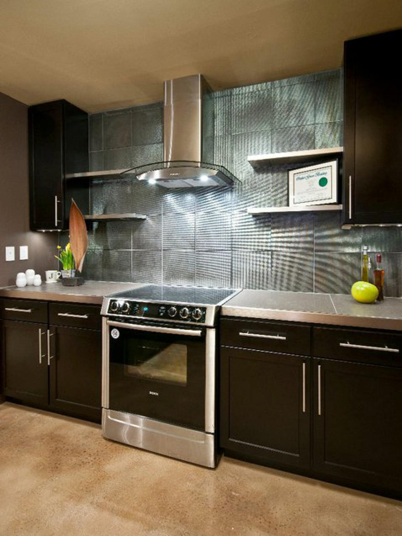 Modern Kitchen Backsplash do-it-yourself diy kitchen backsplash ideas + hgtv pictures | hgtv