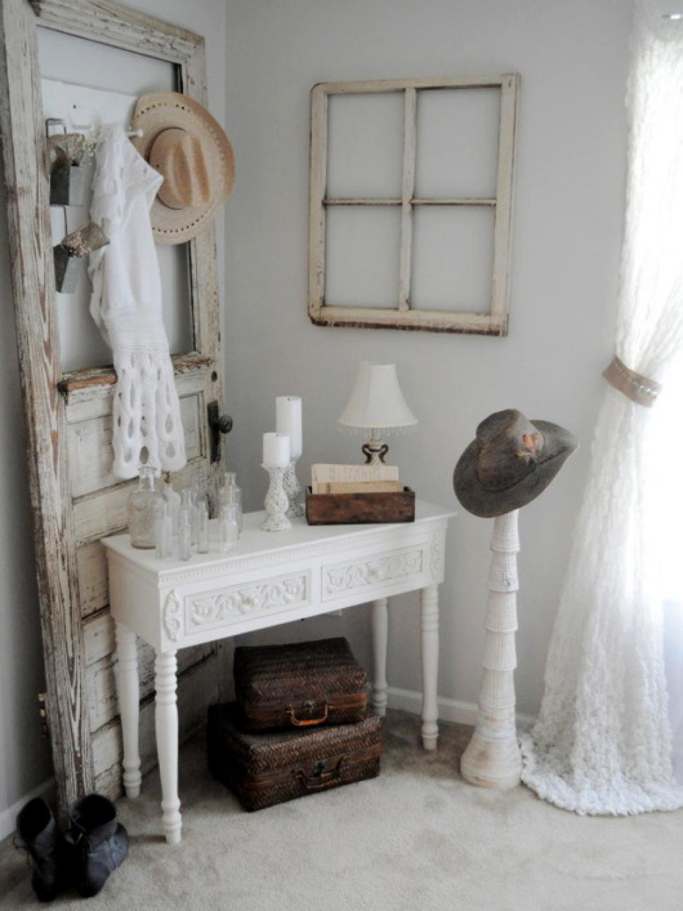 perfectly shabby chic accents accessories and vignettes hgtv. Black Bedroom Furniture Sets. Home Design Ideas