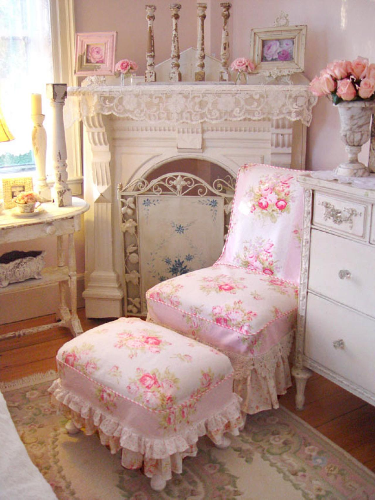 lovely and sweet shabby chic fabrics interior design. Black Bedroom Furniture Sets. Home Design Ideas